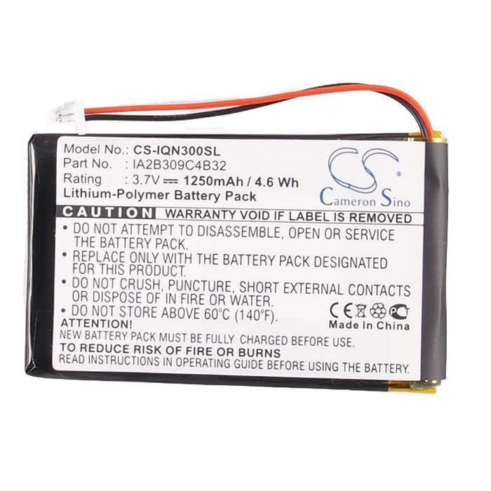 Premium Battery for Garmin Nuvi 300, Nuvi 300t, Nuvi 310 3.7V, 1250mAh - 4.63Wh
