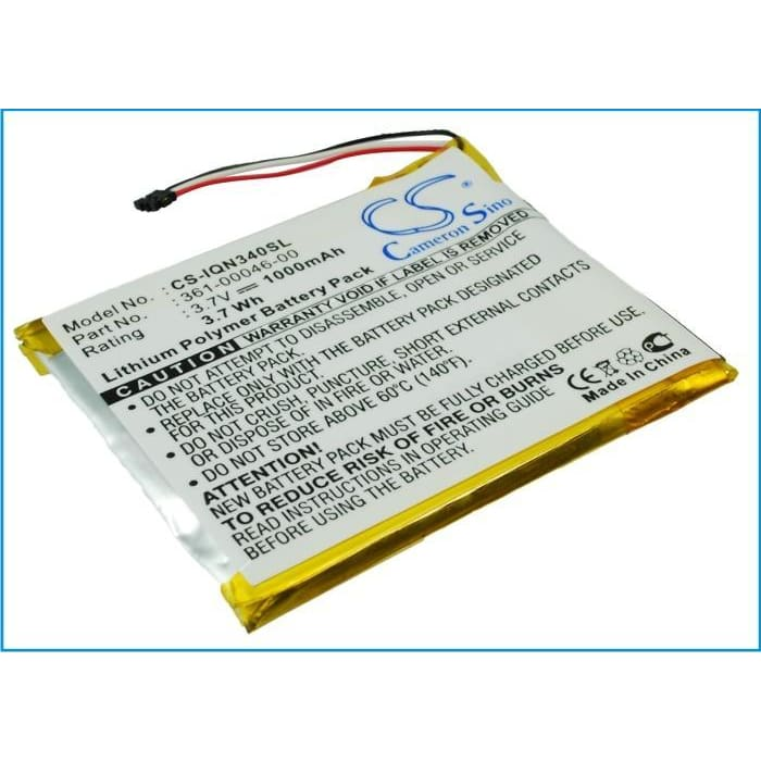 Premium Battery for Garmin Nuvi 3400, Nuvi 3450, Nuvi 3450lm 3.7V, 1000mAh - 3.70Wh