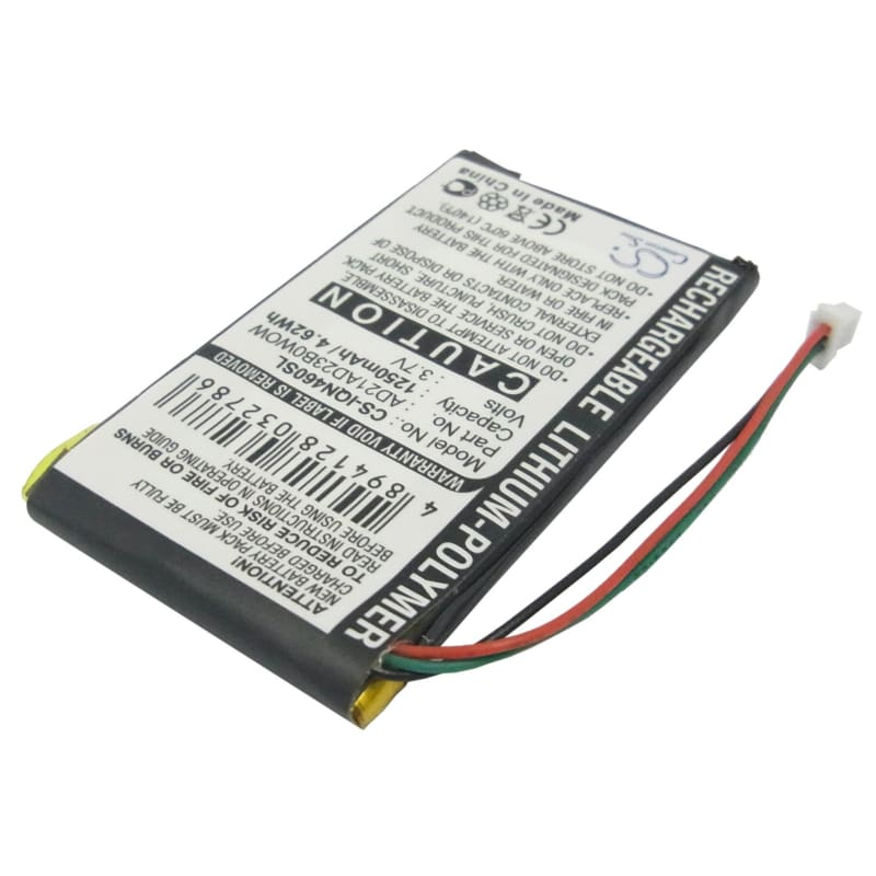 Premium Battery for Garmin Nuvi 465, 465LTM, 465T 3.7V, 1250mAh - Li-Polymer