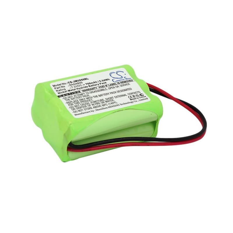 Premium Battery for Jay, Ute 050, Ute050 7.2V, 700mAh - 5.04Wh