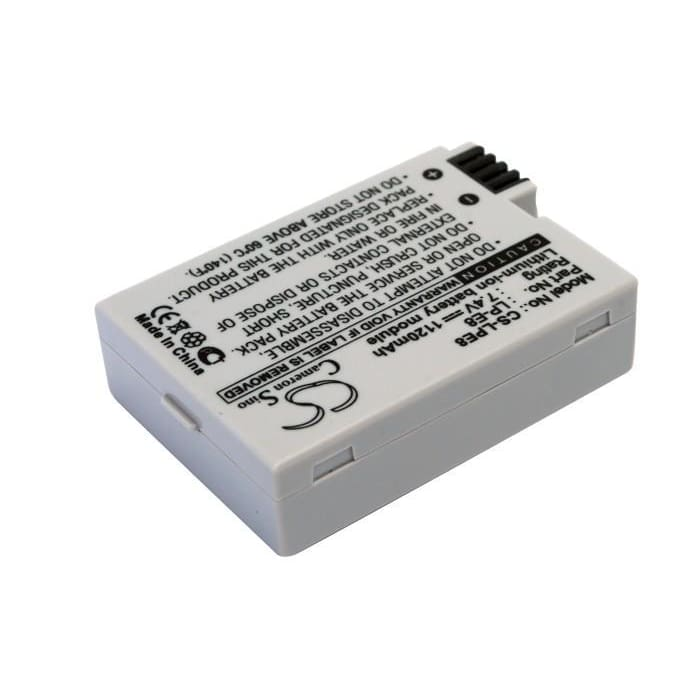 Premium Battery for Canon Ef-s, Eos 550d, Eos 7.4V, 1120mAh - 8.29Wh