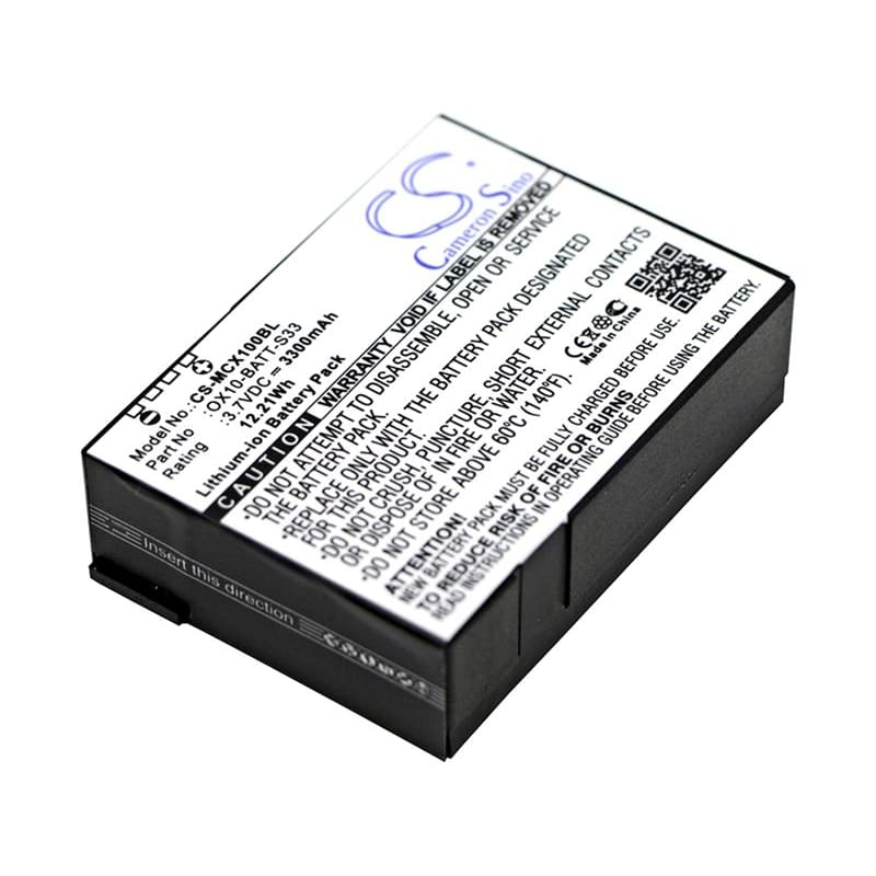 New Premium BarCode/Scanner Battery Replacements CS-MCX100BL