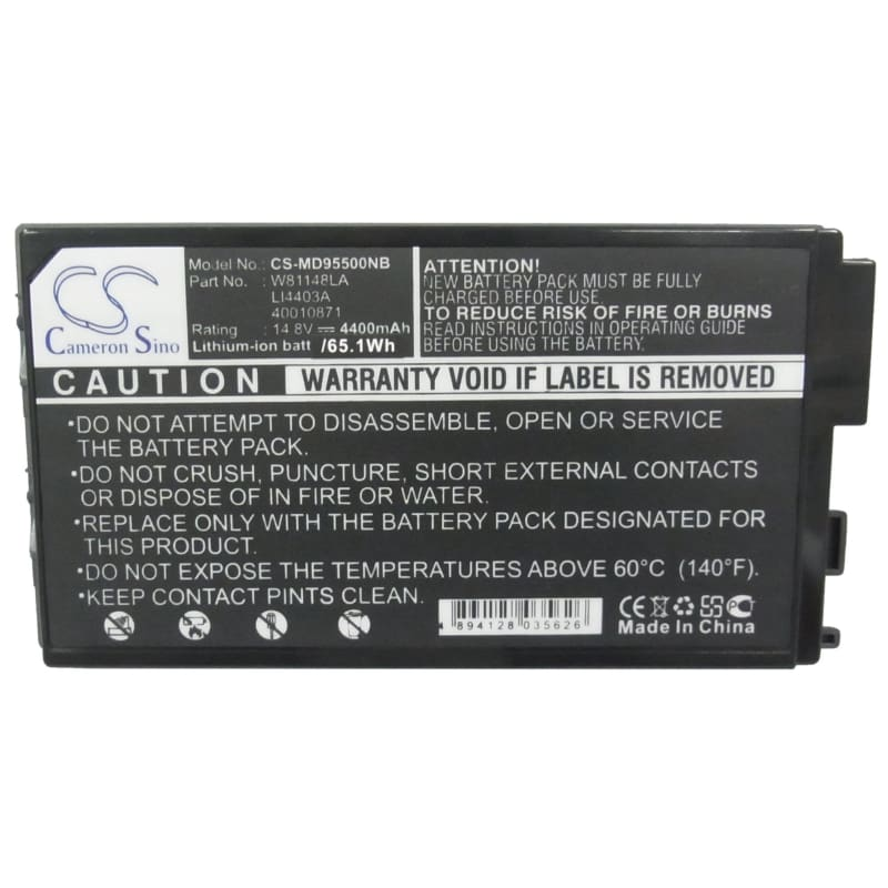 New Premium Notebook/Laptop Battery Replacements CS-MD95500NB