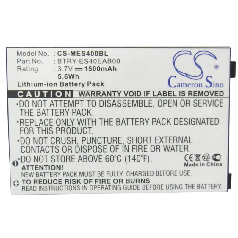 Premium Battery for Symbol Es400 3.7V, 1500mAh - 5.55Wh
