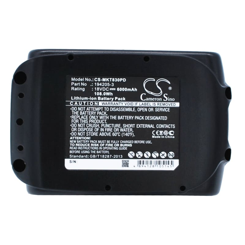 Premium Battery for Makita BL1815, BL1830, BL1835, BL1840, BL1850 18V, 6000mAh - Li-ion