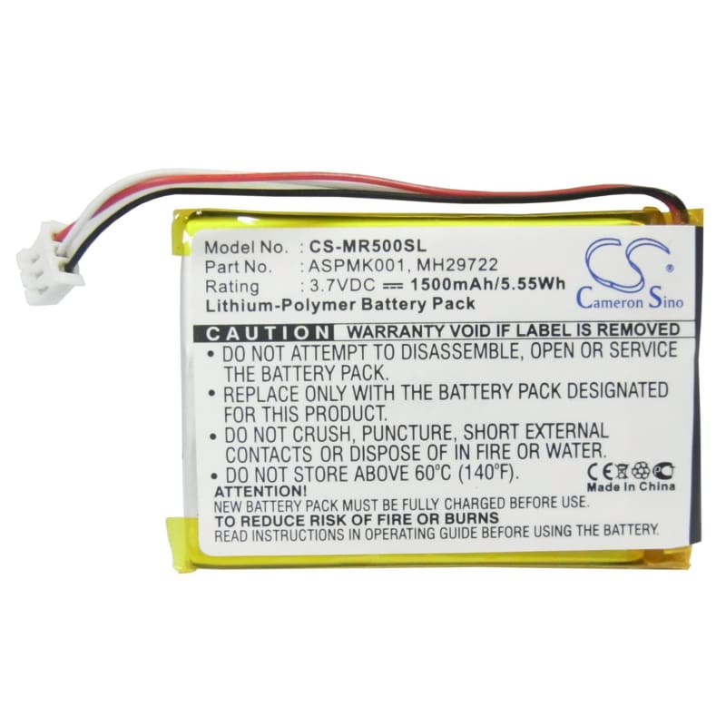Premium Battery for Olympus Mrobe Mr-500i, Mrobe Mr-5001 3.7V, 1500mAh - 5.55Wh