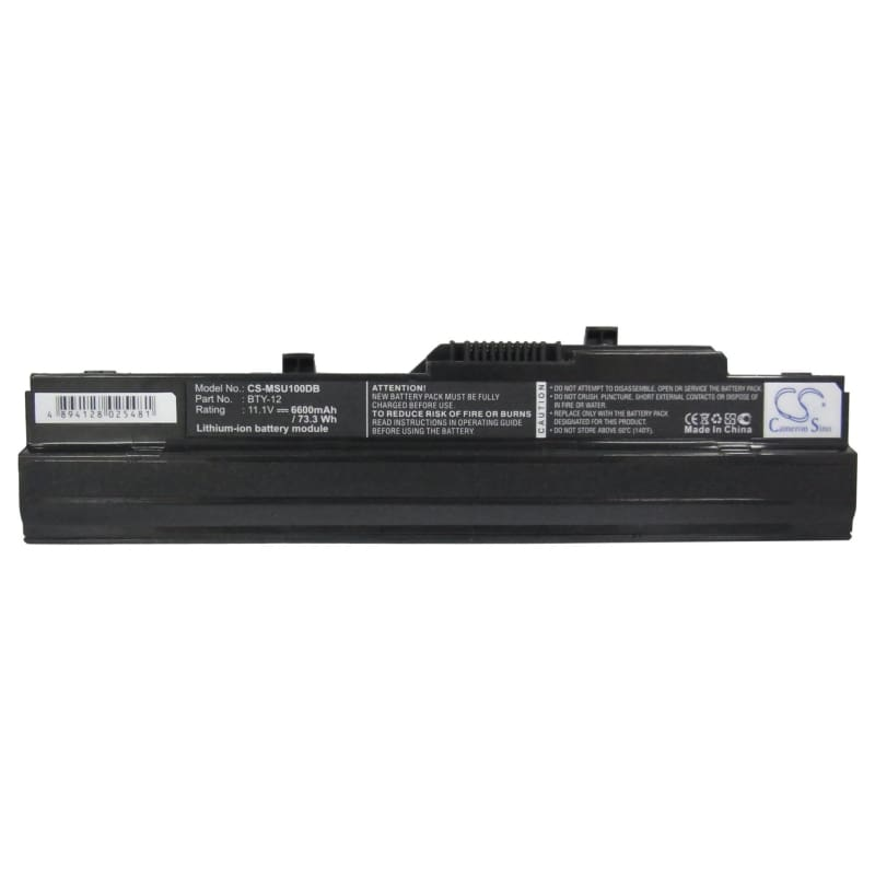 New Premium Notebook/Laptop Battery Replacements CS-MSU100DB