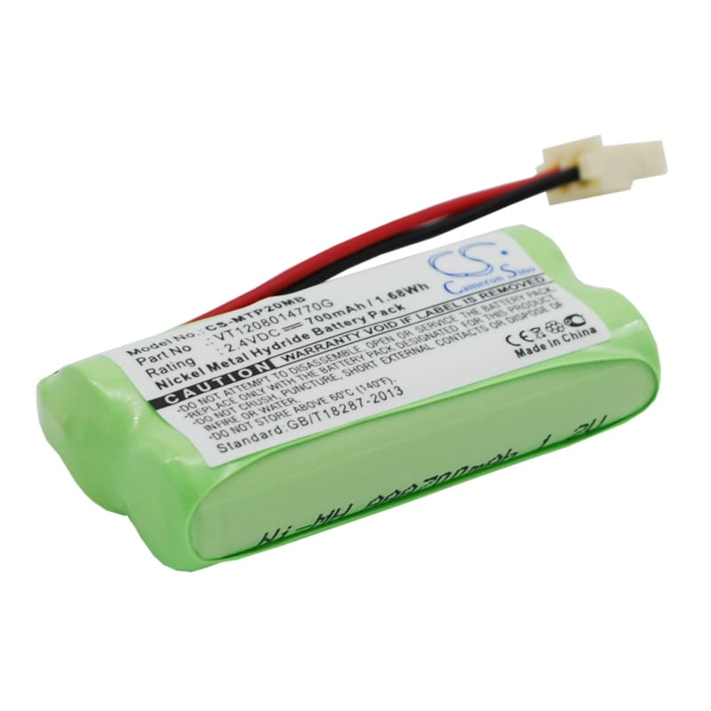 Premium Battery for Motorola, Mbp20 2.4V, 700mAh - 1.68Wh