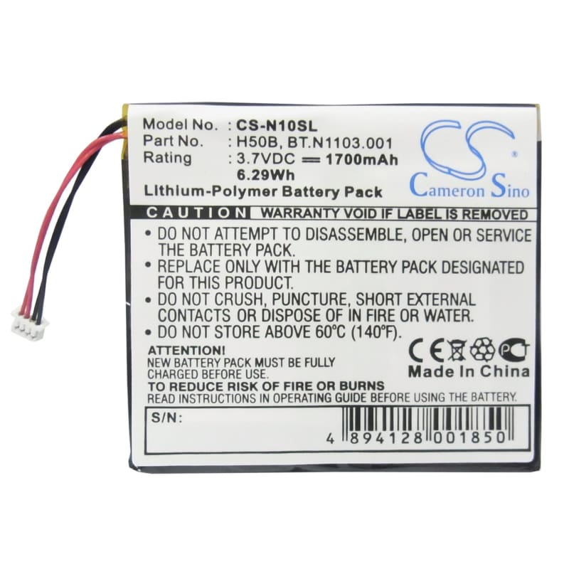 New Premium PDA/Pocket PC Battery Replacements CS-N10SL