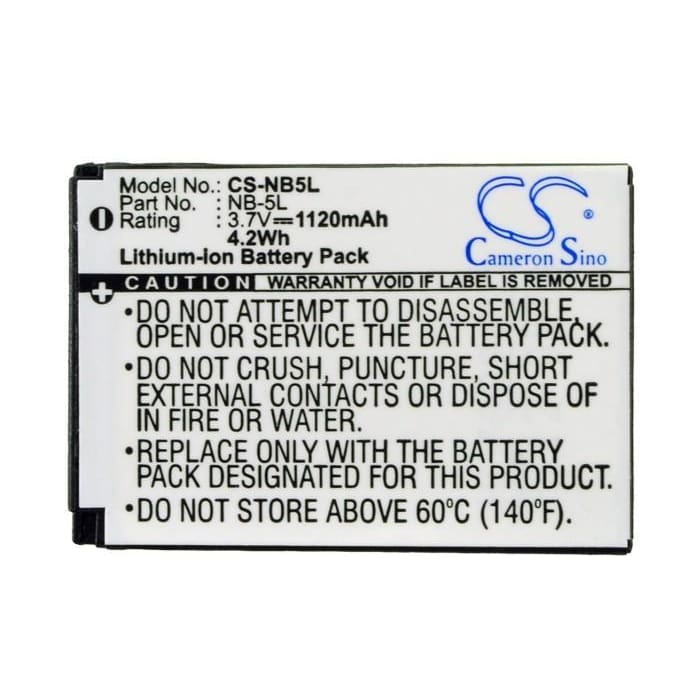 Premium Battery for Canon Digital Ixus 800 Is, 3.7V, 1120mAh - 4.14Wh