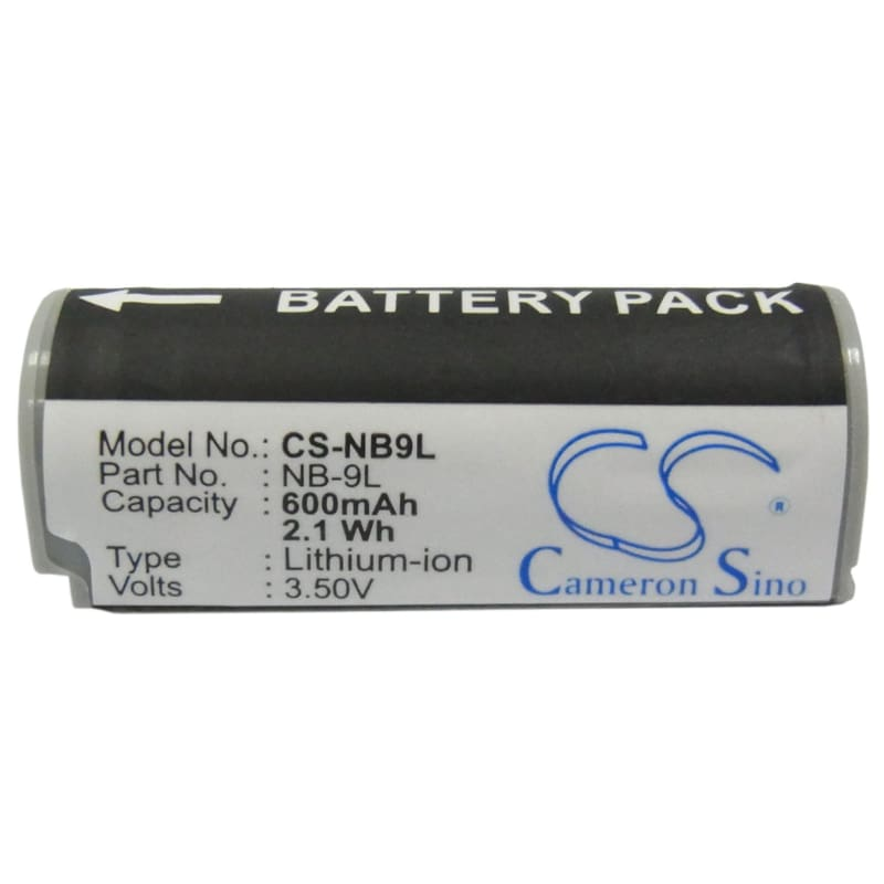 Premium Battery for Canon Ixus 1000 Hs, Ixy 3.6V, 600mAh - 2.16Wh