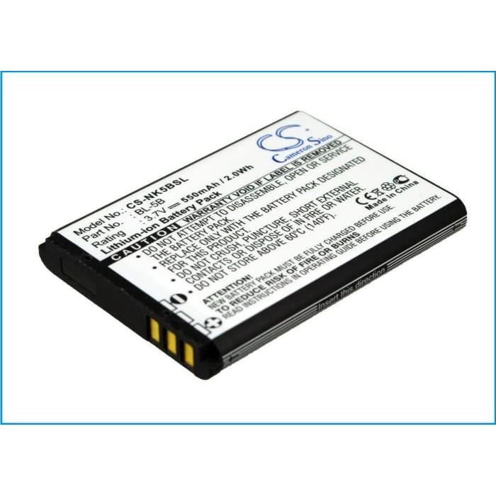 Premium Battery for Blu Bar Q 3.7V, 550mAh - 2.04Wh