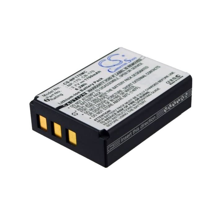 Premium Battery for Ordro Hdv-d325, Hdv-d370, Speed, Hd230z, 3.7V, 1700mAh - 6.29Wh