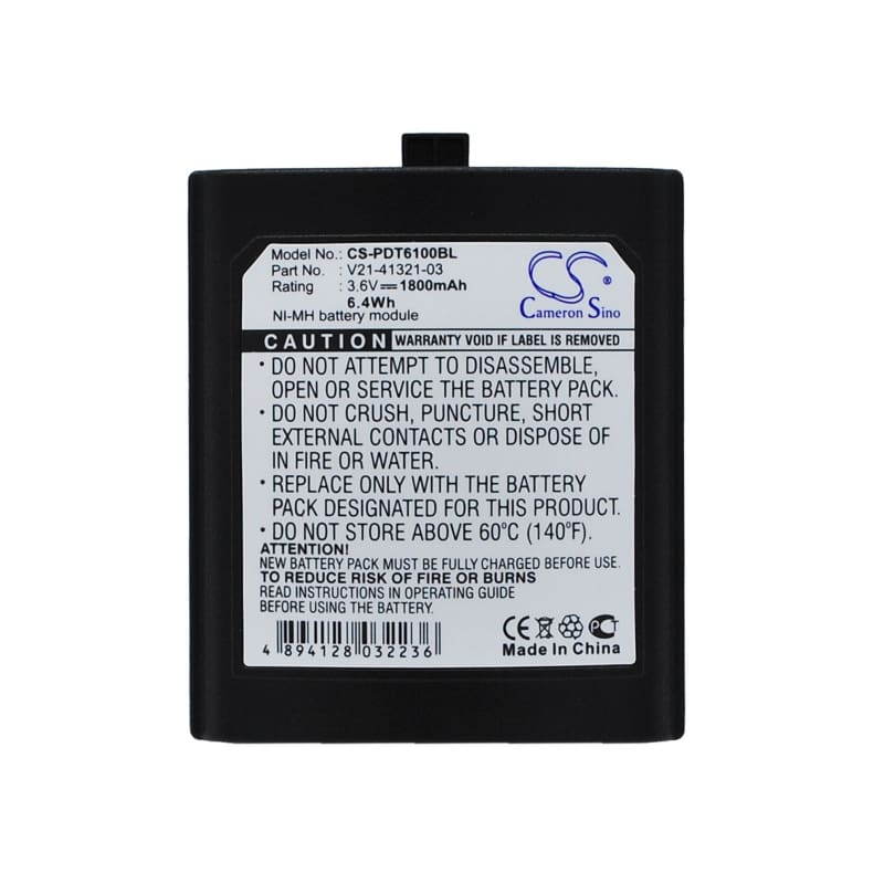 Premium Battery for Symbol Pdt6100, Pdt6140, Pdt6142 3.6V, 1800mAh - 6.48Wh