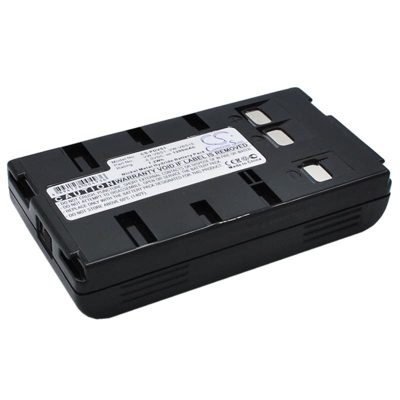 Premium Battery for Panasonic Nv-3ccd1, Nv-61, Nv-63, Nv-g1, 6V, 1200mAh - 7.20Wh
