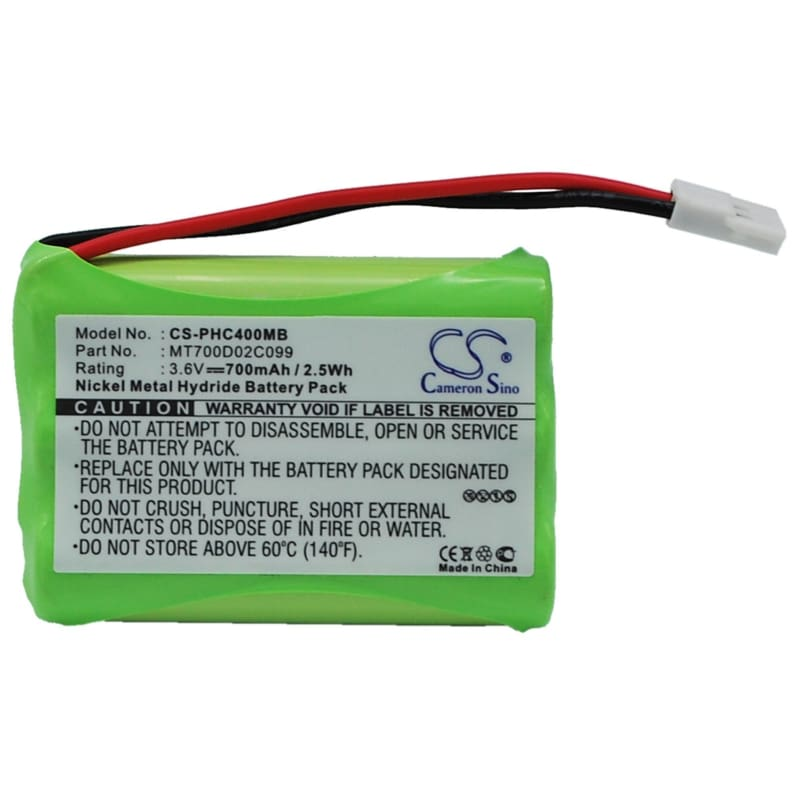 Premium Battery for Philips, Ceptf, Sbc-eb3655, Sbc-sc368 3.6V, 700mAh - 2.52Wh
