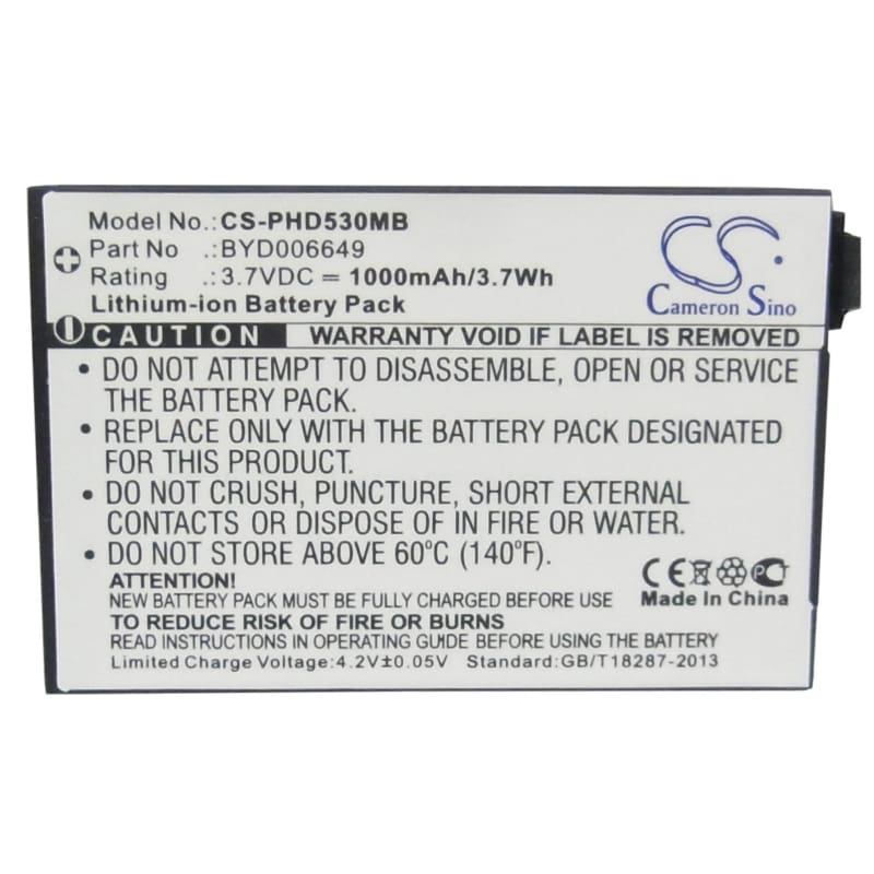 Premium Battery for Philips, Avent Eco Scd535 Dect 3.7V, 1000mAh - 3.70Wh