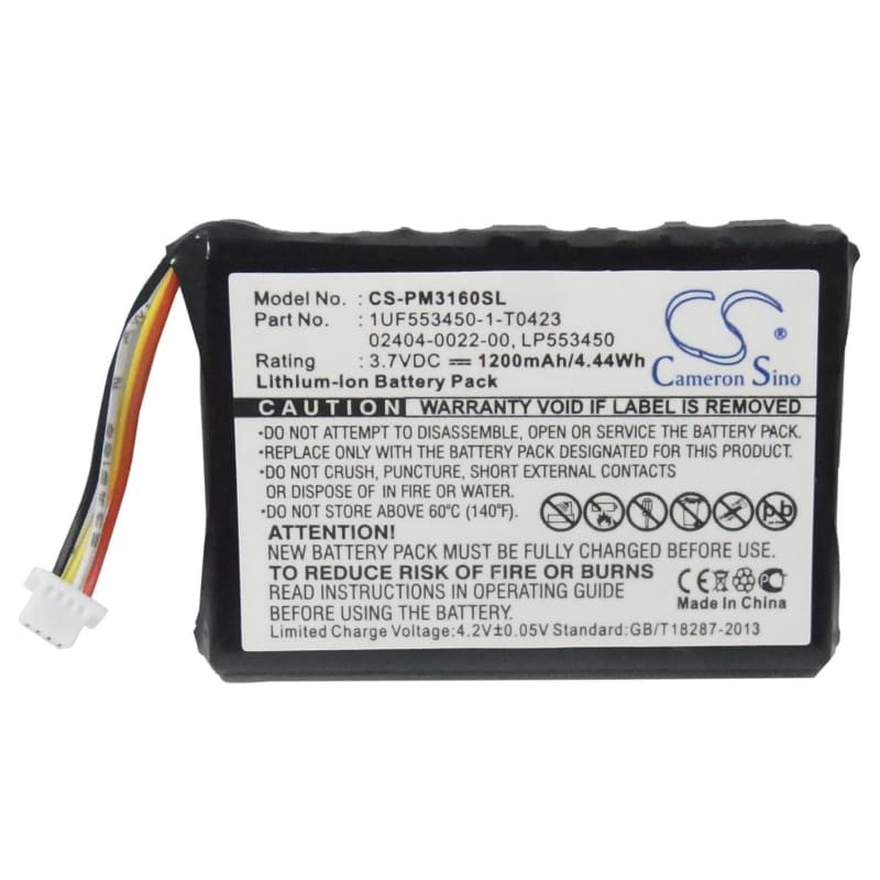 Premium Battery for Cisco 3rd, F460, Generation, M31120b, 3.7V, 1200mAh - 4.44Wh