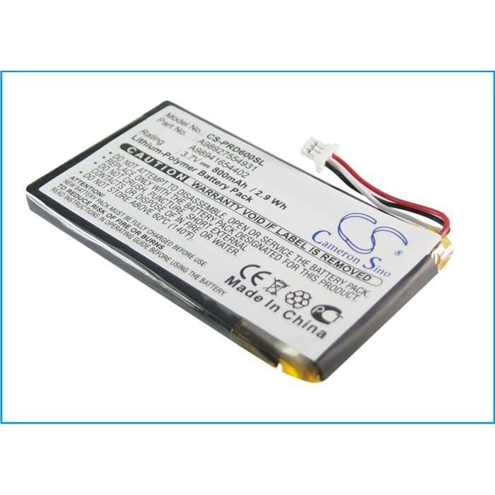 Premium Battery for Sony Prs-600, Prs-600/rc, Prs-600/bc 3.7V, 800mAh - 2.96Wh