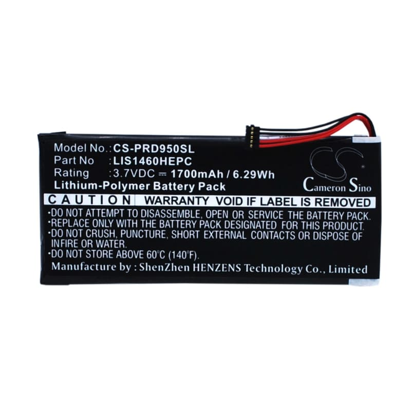 Premium Battery for Sony Prs-950, Prs-950sc 3.7V, 1700mAh - 6.29Wh