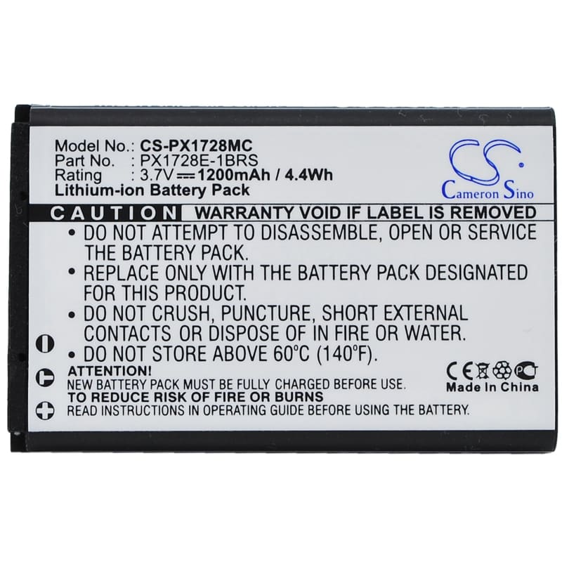 Premium Battery for Toshiba Camileo Air 10, Camileo 3.7V, 1200mAh - 4.44Wh