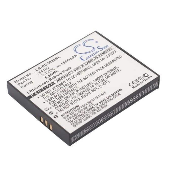 Premium Battery for Rca Lyra X3000, Lyra X3030 3.7V, 1500mAh - 5.55Wh