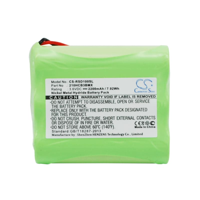 Premium Battery for Roberts Sports Dab1 3.6V, 2200mAh - 7.92Wh