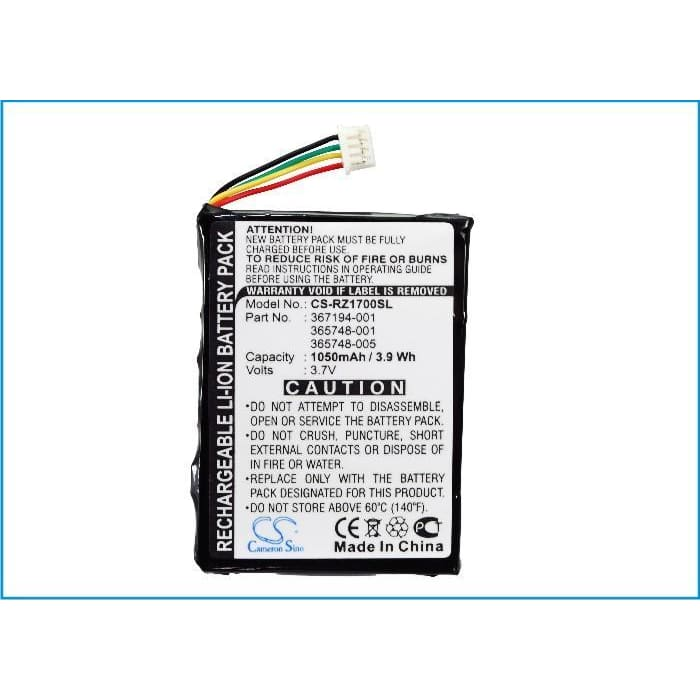 New Premium PDA/Pocket PC Battery Replacements CS-RZ1700SL