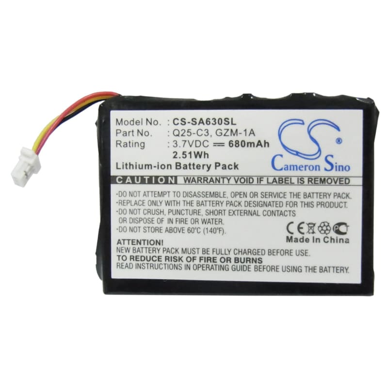 Premium Battery for Philips Gogear Hdd6330 30gb 3.7V, 680mAh - 2.52Wh