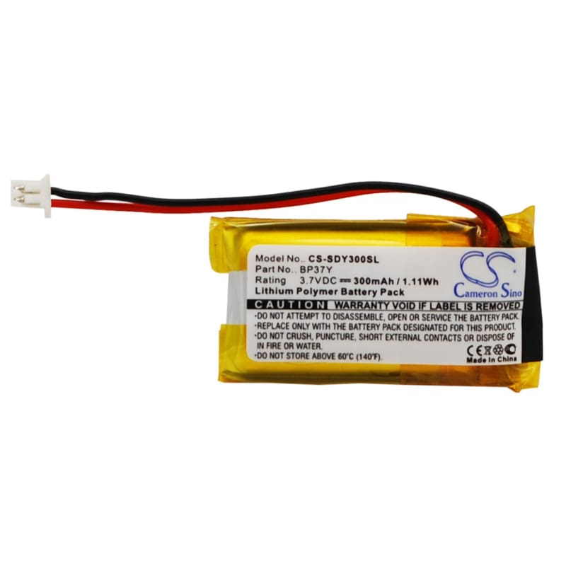 Premium Battery for Dogtra Ys300 Bark Control Collar 3.7V, 300mAh - 1.11Wh