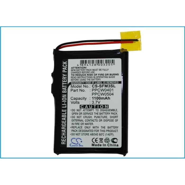 Premium Battery for Cowon Iaudio M3, X5 3.7V, 1100mAh - 4.07Wh