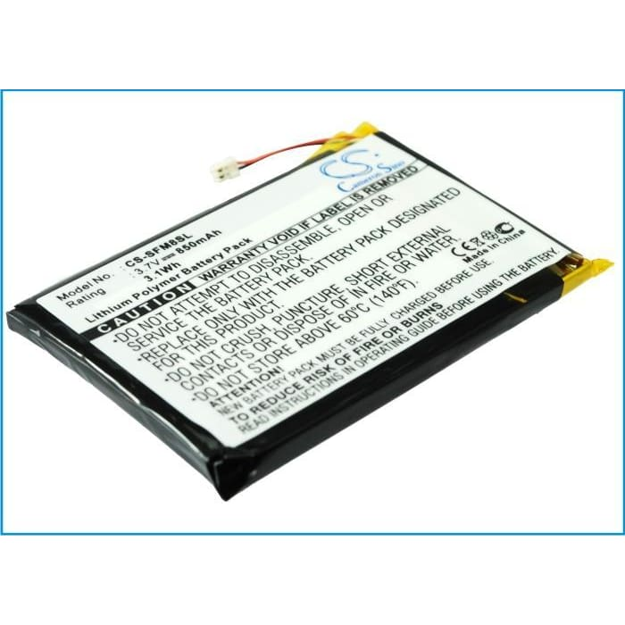 Premium Battery for Jnc Ssf-m805, Ssf-m810 3.7V, 850mAh - 3.15Wh