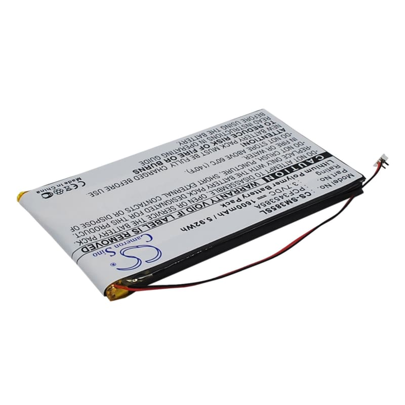 Premium Battery for Samsung Napster Mp3 Player, Yp106g, Pmpsgy910 3.7V, 1600mAh - 5.92Wh