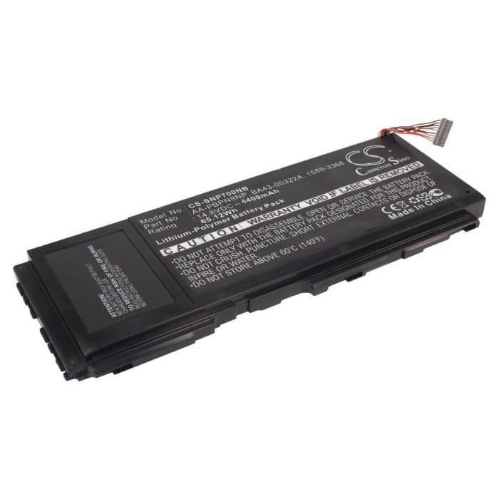 Premium Black Battery for Samsung Np700z3a, Np700z, Np700z3ah 14.8V, 4400mAh - 65.12Wh