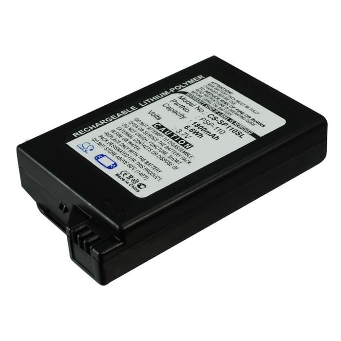 Premium Battery for Sony Psp-1000, Psp-1000g1, Psp-1000g1w 3.7V, 1800mAh - 6.66Wh