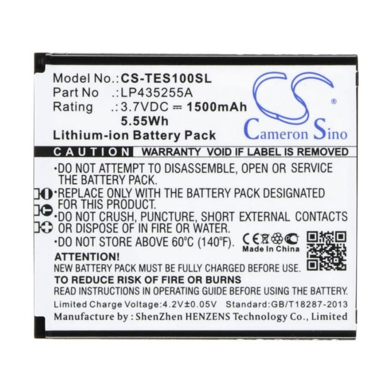 New Premium Mobile/SmartPhone Battery Replacements CS-TES100SL