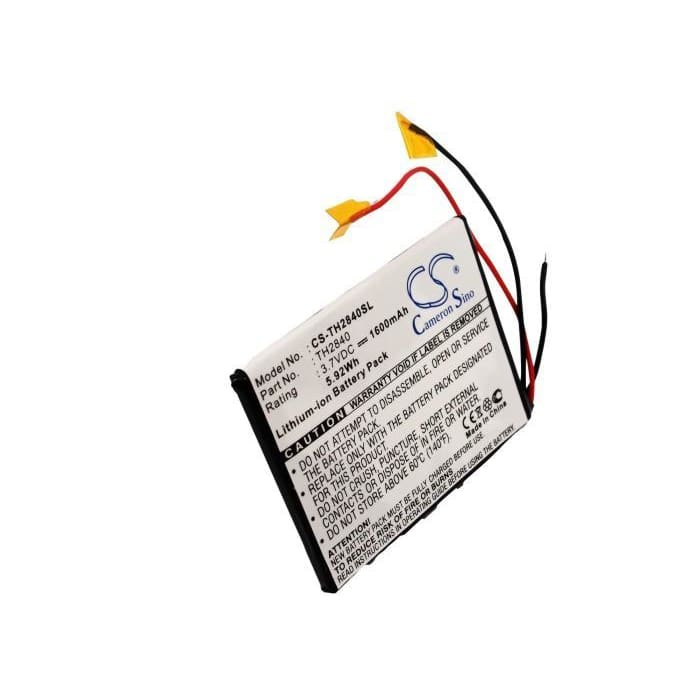 Premium Battery for Thompson Pdp2840 Mp3 Player 3.7V, 1600mAh - 5.92Wh