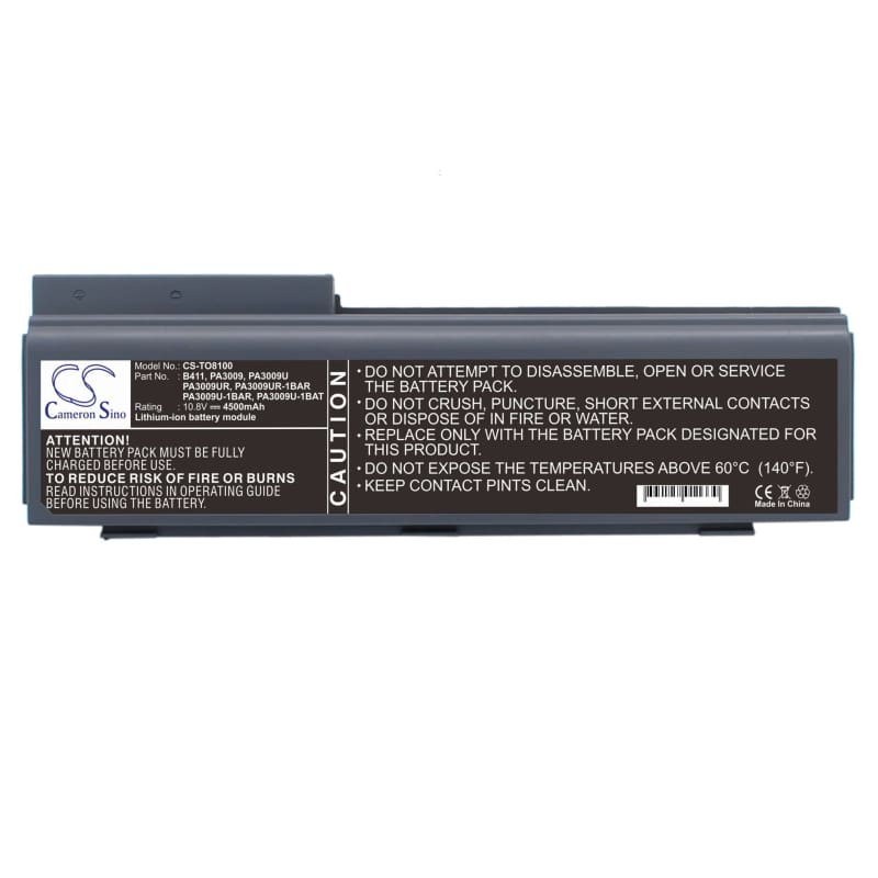 New Premium Notebook/Laptop Battery Replacements CS-TO8100