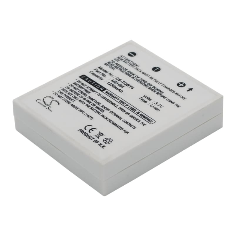 Premium Battery for Toshiba Gigashot V10 3.7V, 1230mAh - 4.55Wh