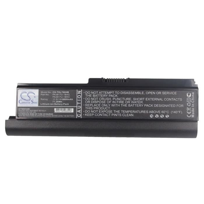 New Premium Notebook/Laptop Battery Replacements CS-TOL700HB
