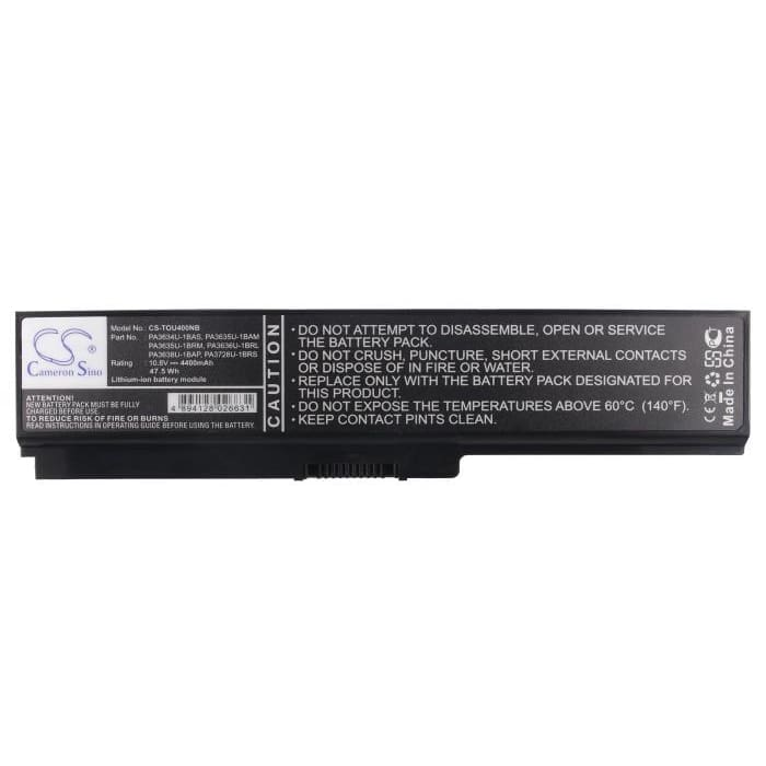 New Premium Notebook/Laptop Battery Replacements CS-TOU400NB