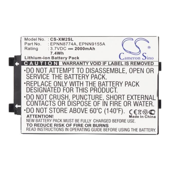Premium Battery for Altec Lansing Xm3020, Xm2go 3.7V, 2000mAh - 7.40Wh
