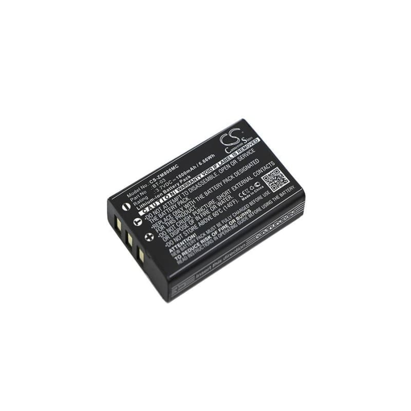 Premium Battery for Zoom, Q8 Recorder 3.7V, 1800mAh - 6.66Wh