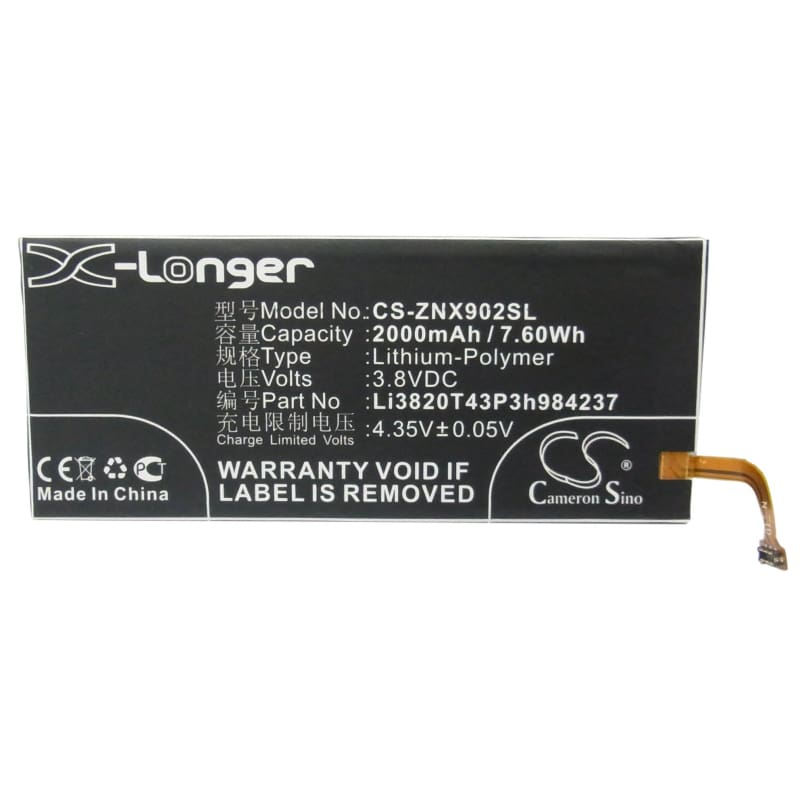 New Premium Mobile/SmartPhone Battery Replacements CS-ZNX902SL