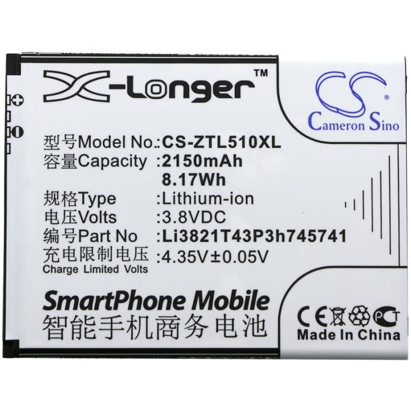 New Premium Mobile/SmartPhone Battery Replacements CS-ZTL510XL