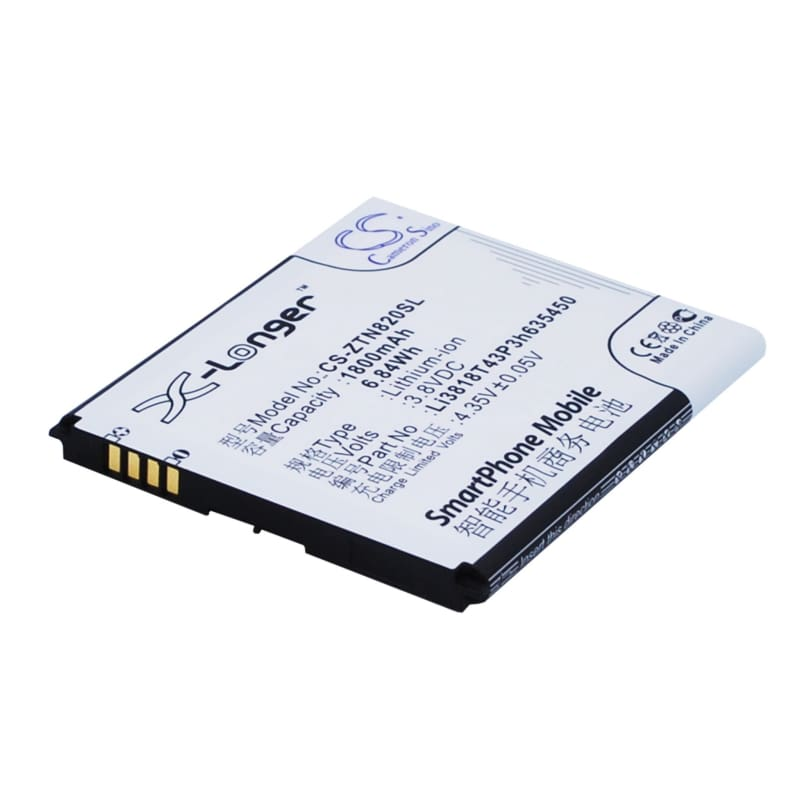 New Premium Mobile/SmartPhone Battery Replacements CS-ZTN820SL