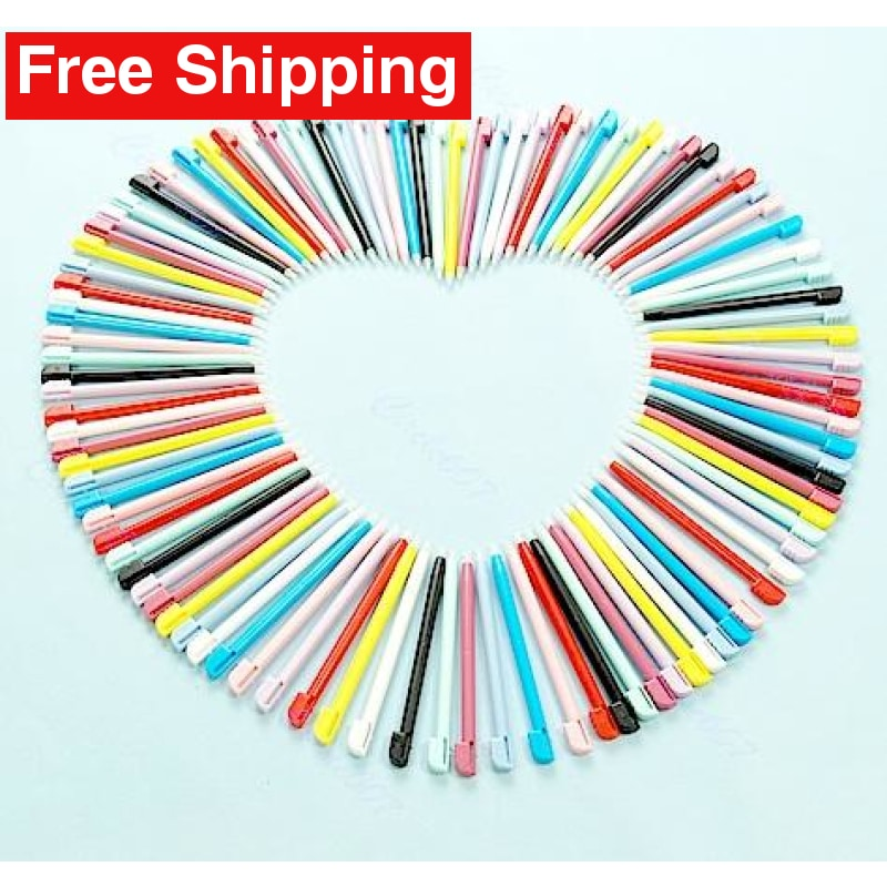 10 x Color Touch Stylus Pen For Nintendo DS DSi 3DS 2DS - Free Shipping