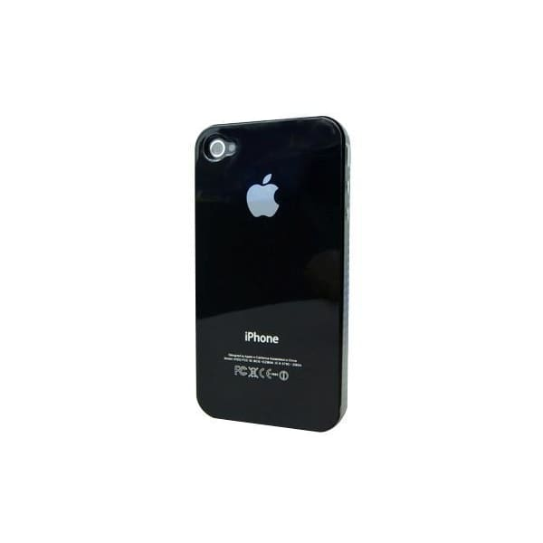 Black Snap-on Hard Back Cover case for iPhone 4 4G