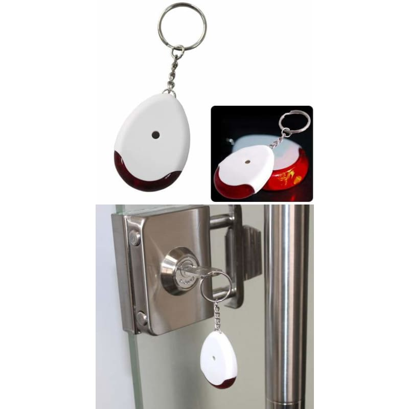 Sound Voice Control Lost Key Finder Locater Keychain White