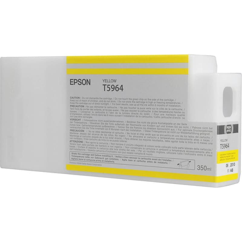 Epson T596400 350ml Original Yellow Ink Cartridge